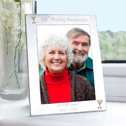 Personalised 50th Wedding Anniversary 5x7 Photo Frame
